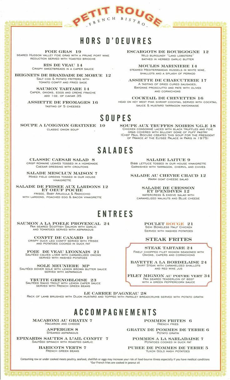 image result for french food menu examples french pinterest