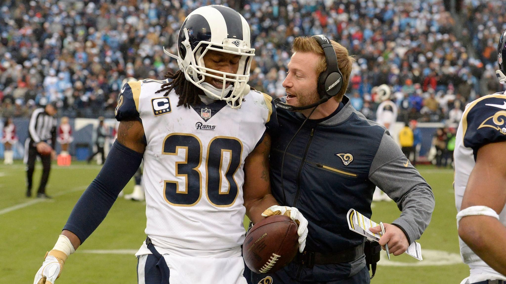 Rams Todd Gurley Makes His Case For Nfl Mvp Against Titans Todd Gurley Sean Mcvay Los Angeles
