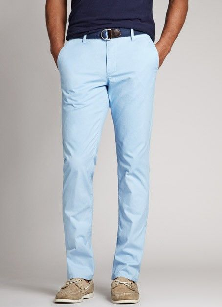 Slim Light Blue Washed Chinos for Men | BonobosOur best-selling ...