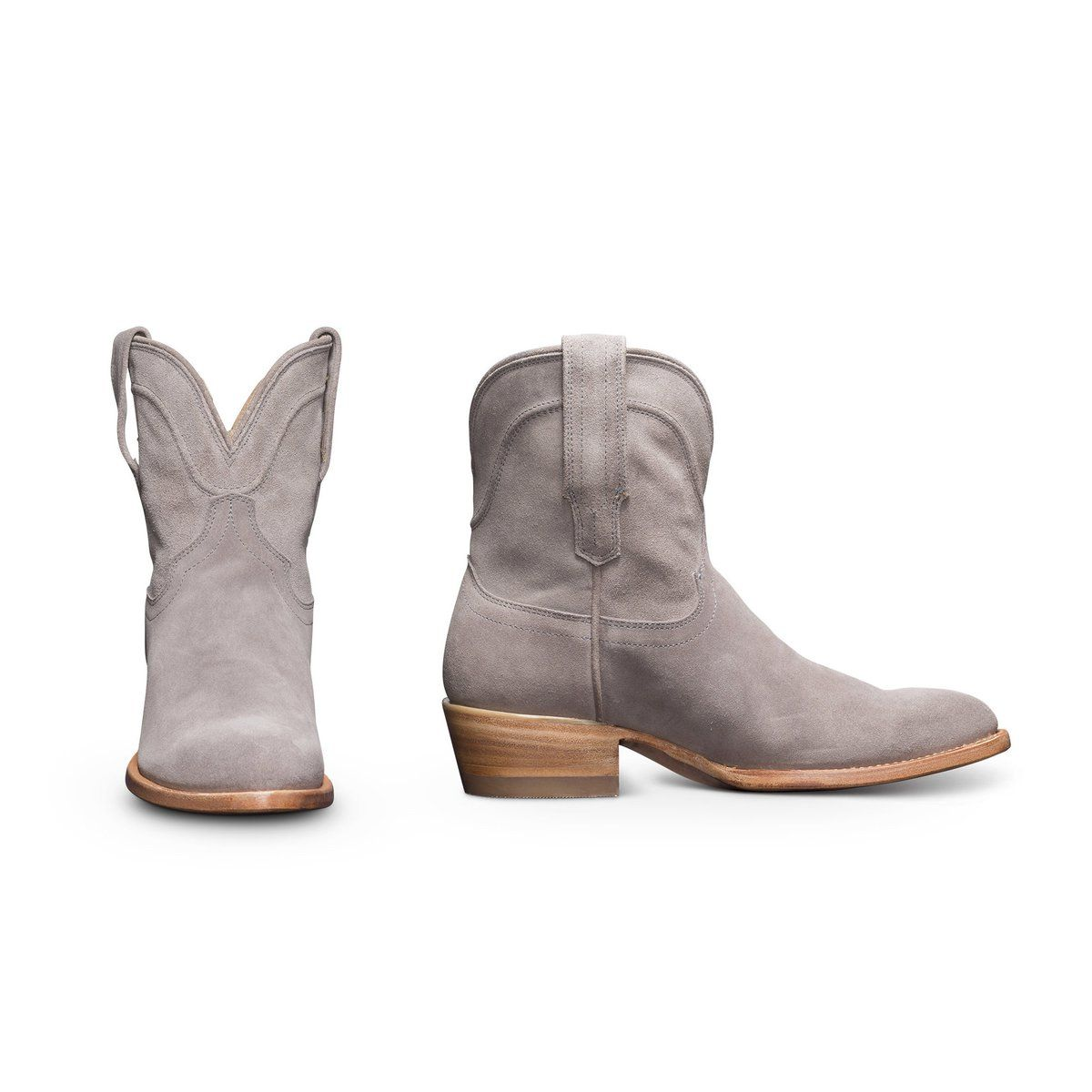 91e787560e7 Women's Waterproof Suede Booties - Western Ankle Cowboy Boots   The ...