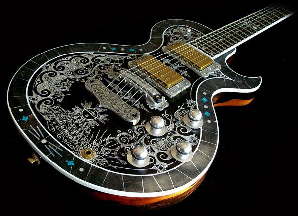 scallywag guitar two pickup la mora with shipwreck finish chris guitars electric. Black Bedroom Furniture Sets. Home Design Ideas