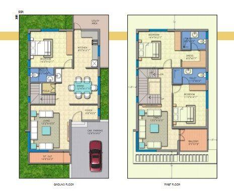 Amusing 3 Bedroom Duplex House Plans In India Contemporary Best In 2020 My House Plans 20x30 House Plans Duplex Floor Plans
