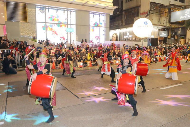 Hong Kong Intl Chinese New Year Night Parade 2015. The