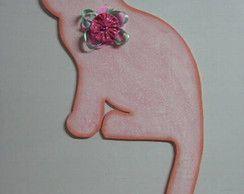 vista de porta gato rosa