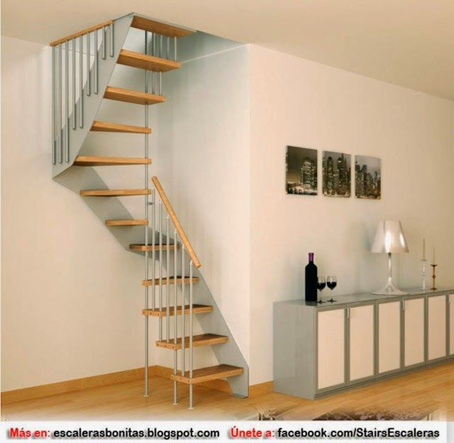 escaleras para poco espacio pinteres