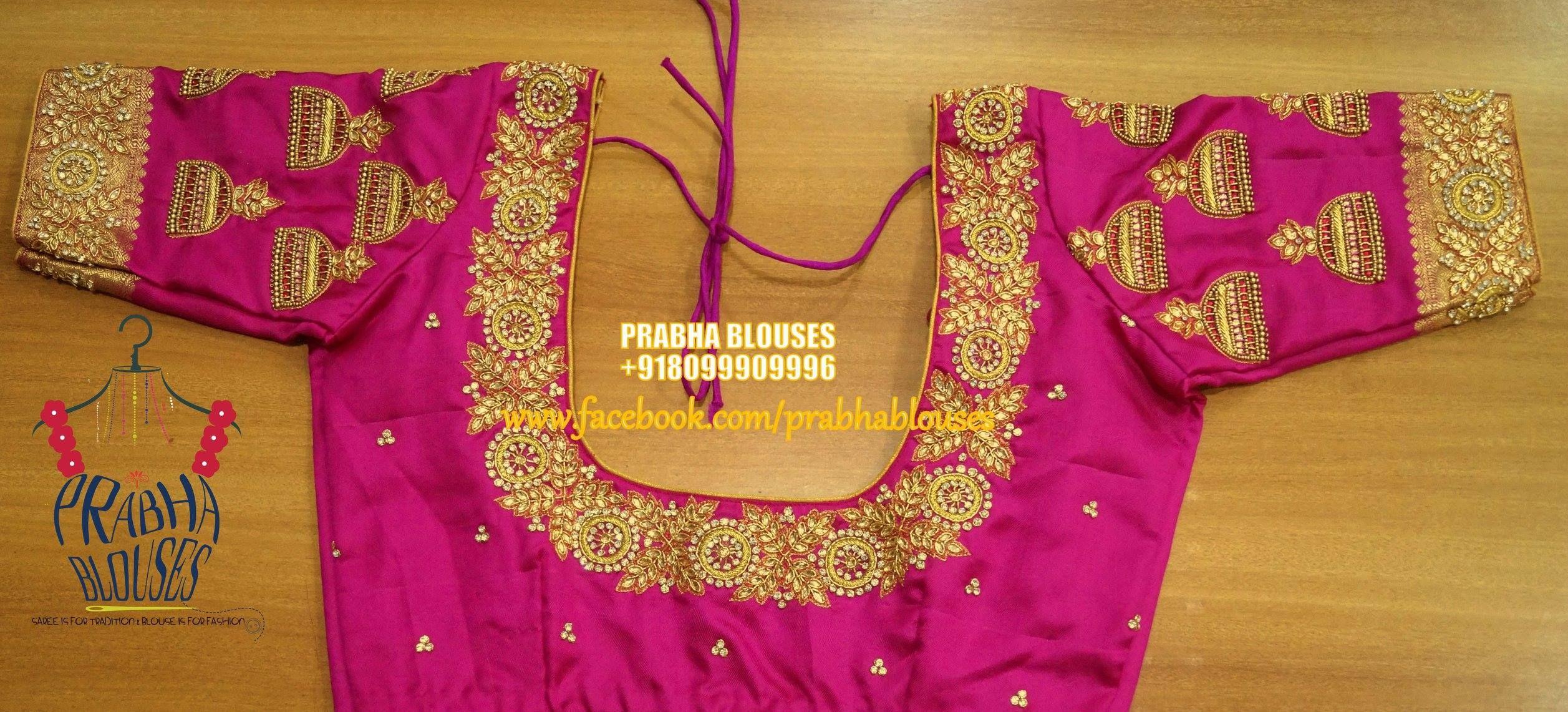 Beautiful pink color designer blouse with jumkhi design hand