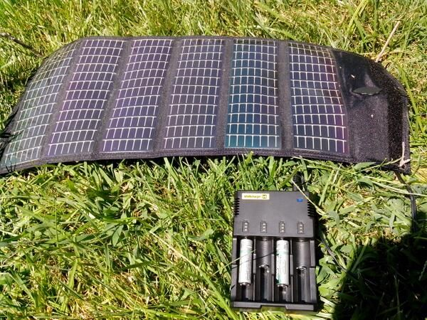 The Nitecore I4 Intelligent Charger And The Powerfilm F15 300 Flexible Solar Panel A Great Combo F Flexible Solar Panels Solar Power House Solar Energy Panels