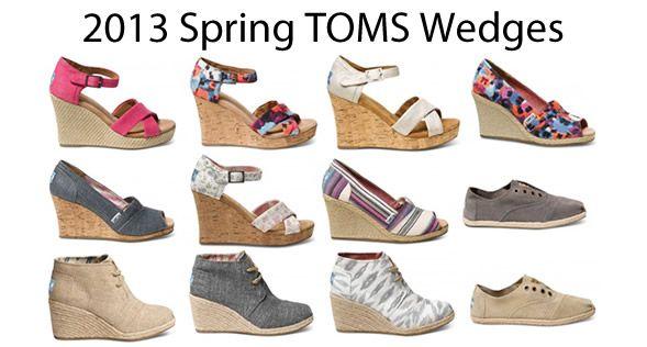 TOMS Spring 2013 wedges