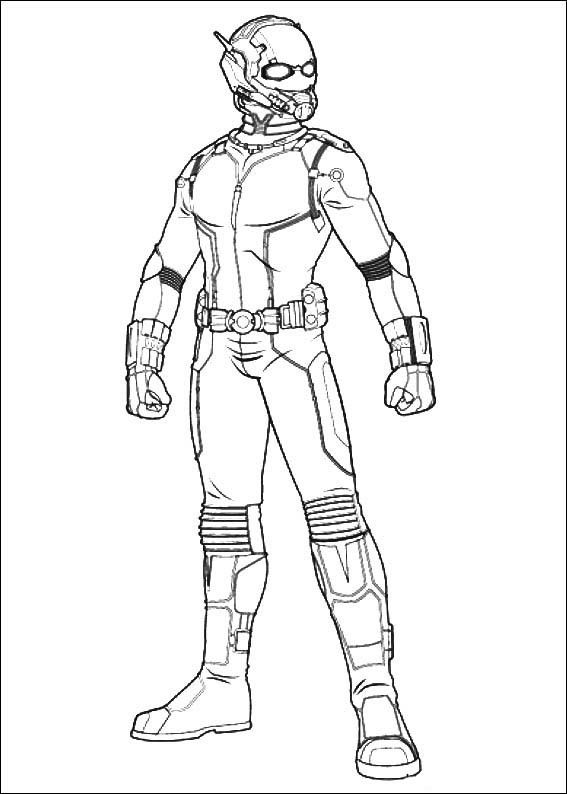 Dibujos Para Colorear Ant Man 2 Ant Superhero Coloring Pages