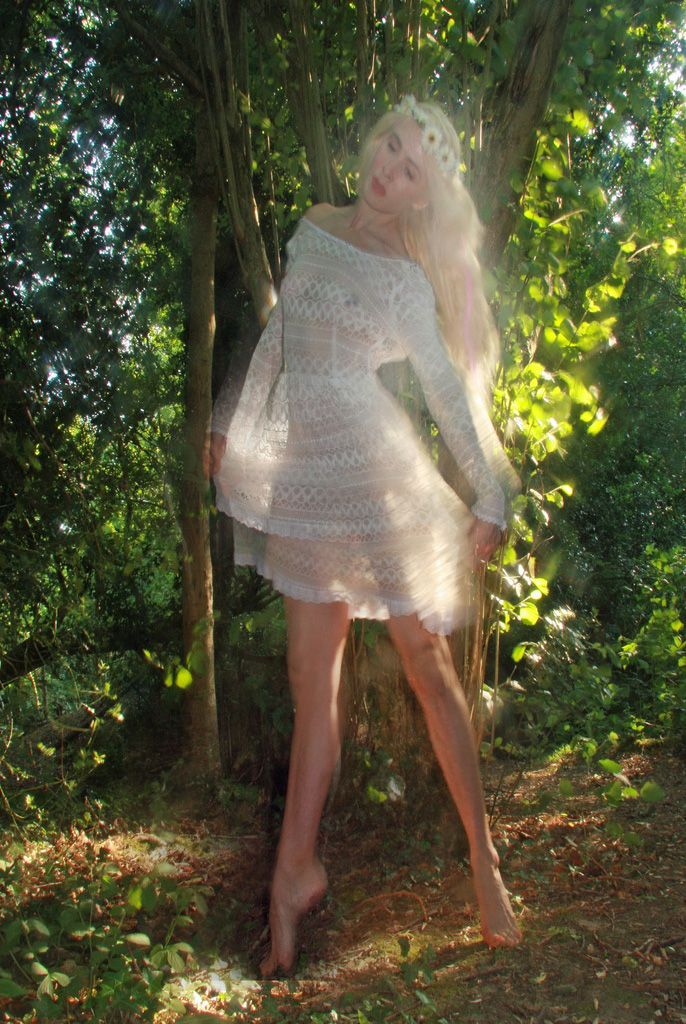 Lovely For Outdoor Natural Naturist Shoots White Lace Transparent Dress Bargain 3 From River Island