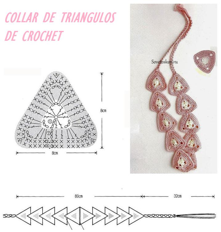 Collar de Triangulos de Crochet - Patrones Crochet | Accesories ...