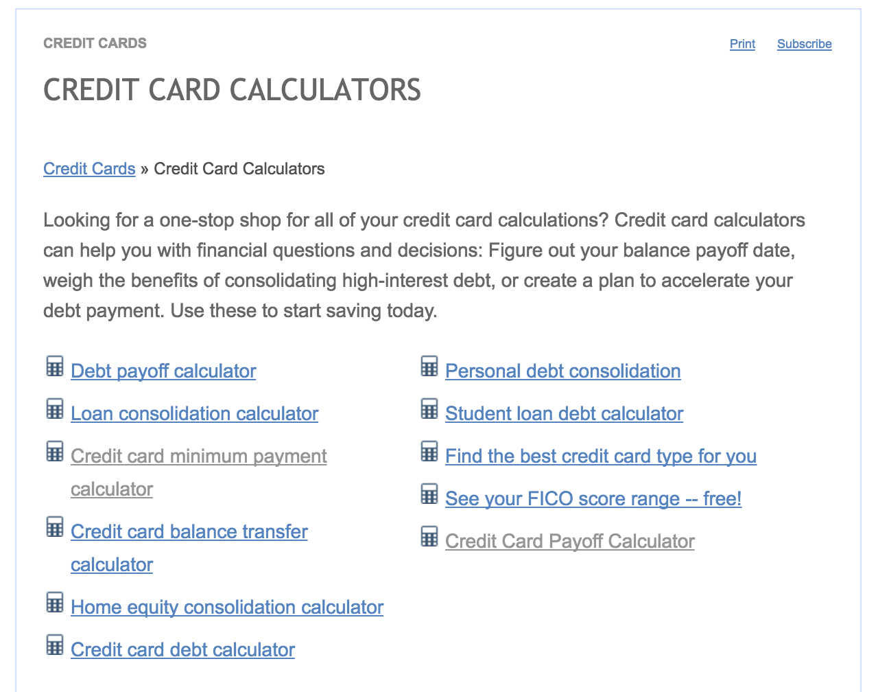 HttpWwwBankrateComCalculatorsIndexOfCreditCard