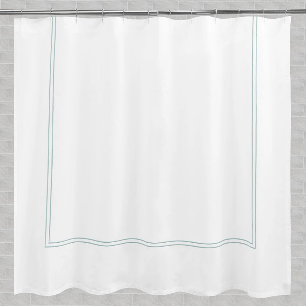 The Embroidered Shower Curtain Luxury Embroidered Shower Curtain
