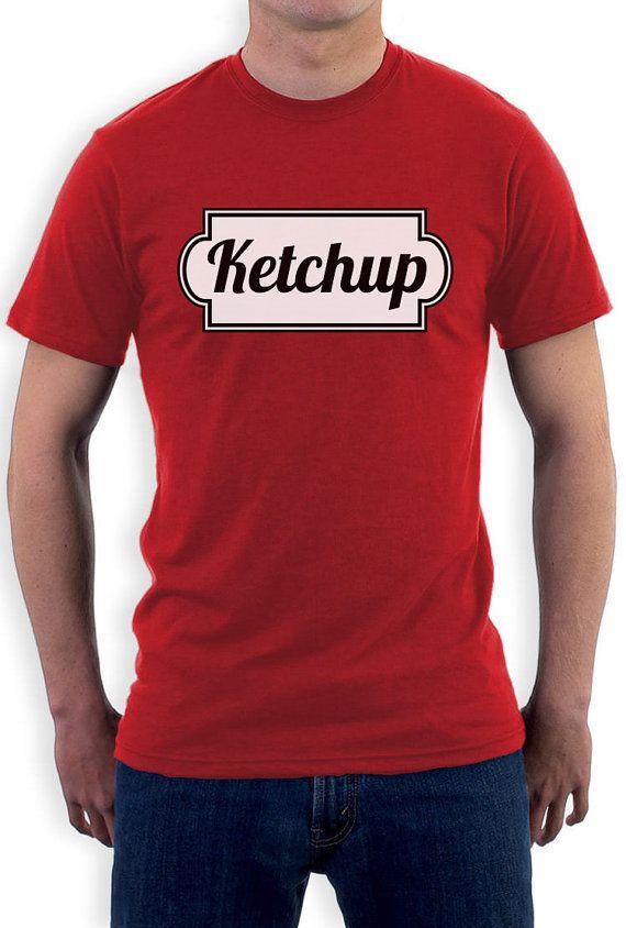 Ketchup Matching Couples Men's T-Shirt #easycostumesformen