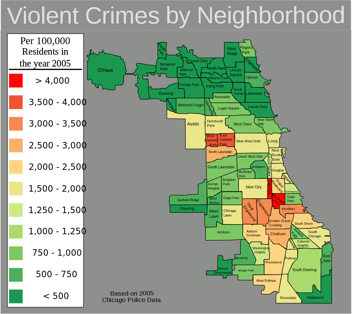 Chicagos  Community Areas Grouped Into Districts ADMIRALS - Chicago map by neighborhood