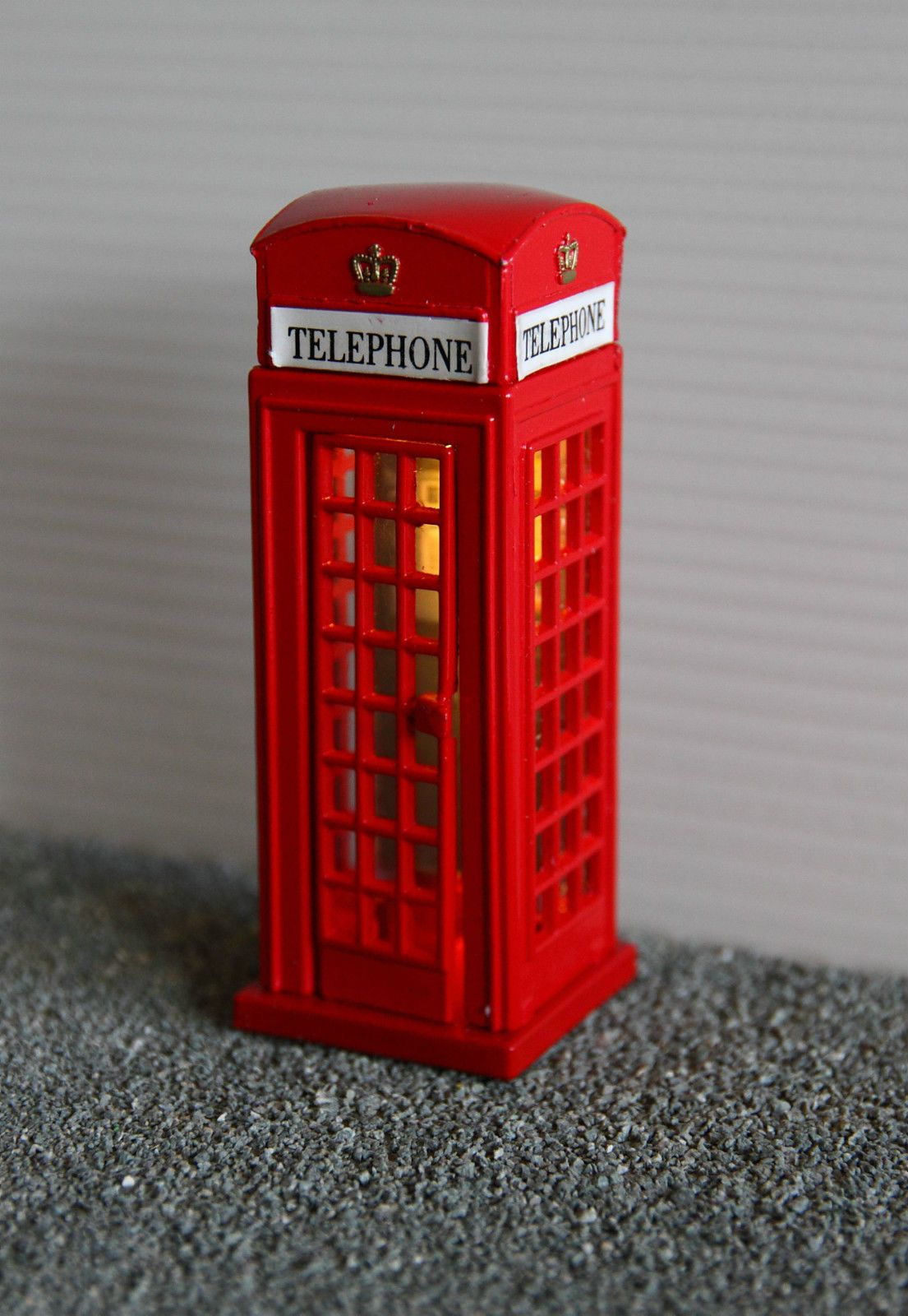 Uk Red Telephone Phone Box Light Suit Britains Scalextric 1 32 Scale Scenery Ebay Phone Box Telephone Phone
