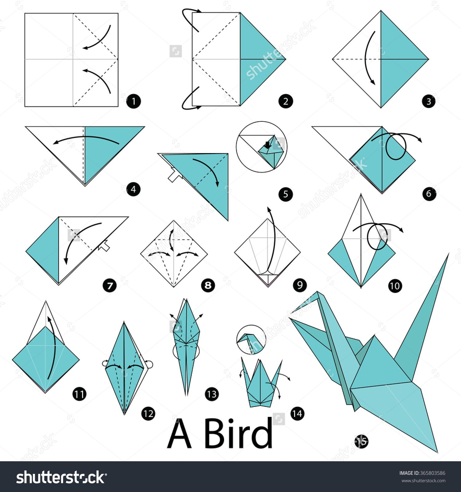 Step By Step Instructions How To Make Origami A Bird ... - photo#12