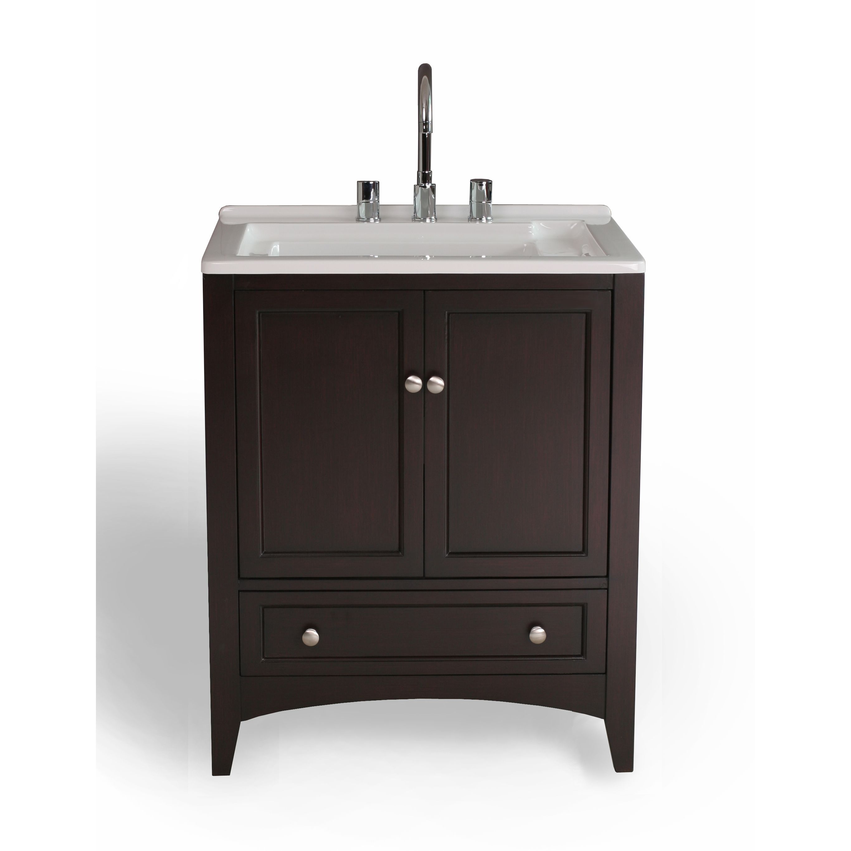 27 Inch Espresso Laundry Single Sink Vanity Ping The Best Deals On Bathroom Vanities