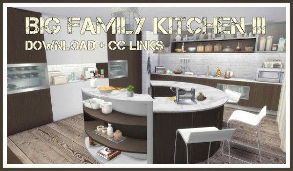 Dinha Gamer Big Family Kitchen Sims 4 Downloads Sims 4 Kitchen Family Kitchen Big Family