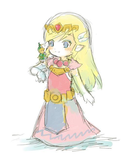 The Legend of Zelda: The Minish Cap | Toon Link, Toon Princess Zelda ...