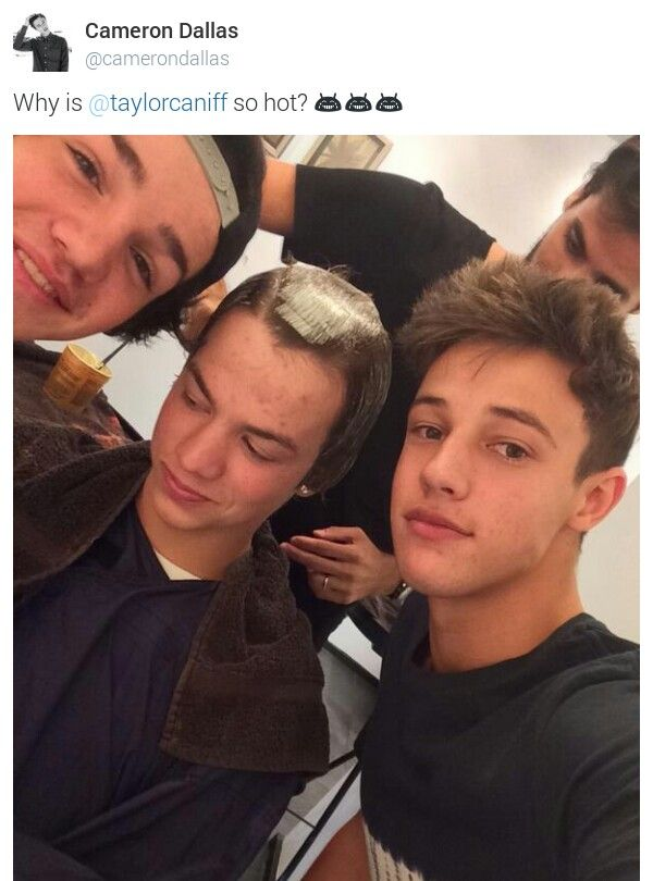 Even Cameron Dallas Doesnt Know Why Taylor Caniff Is So Hot Magcon