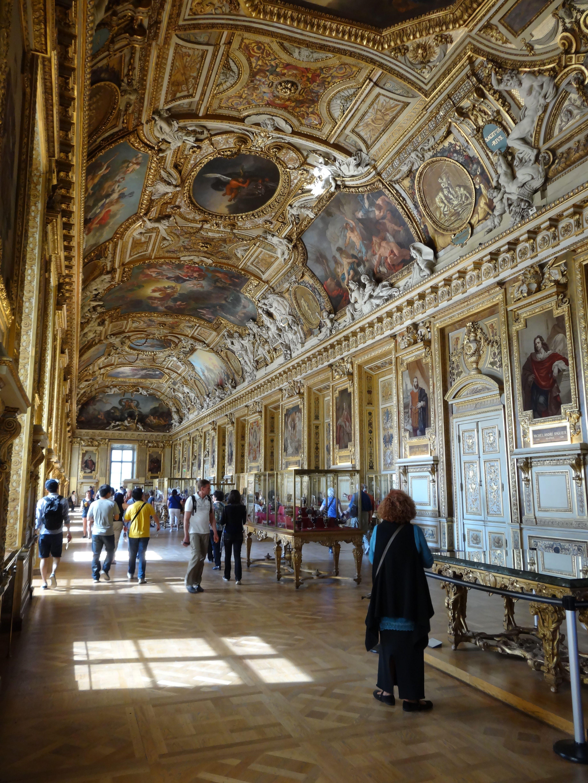 Salon Of Apollo - Louvre Paris France. Room Remains Crown Jewels