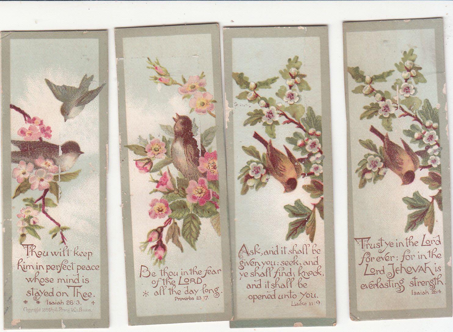 4 mini green sayings birds bookmark shape religious victorian card c 4 mini green sayings birds bookmark shape religious victorian card c m4hsunfo