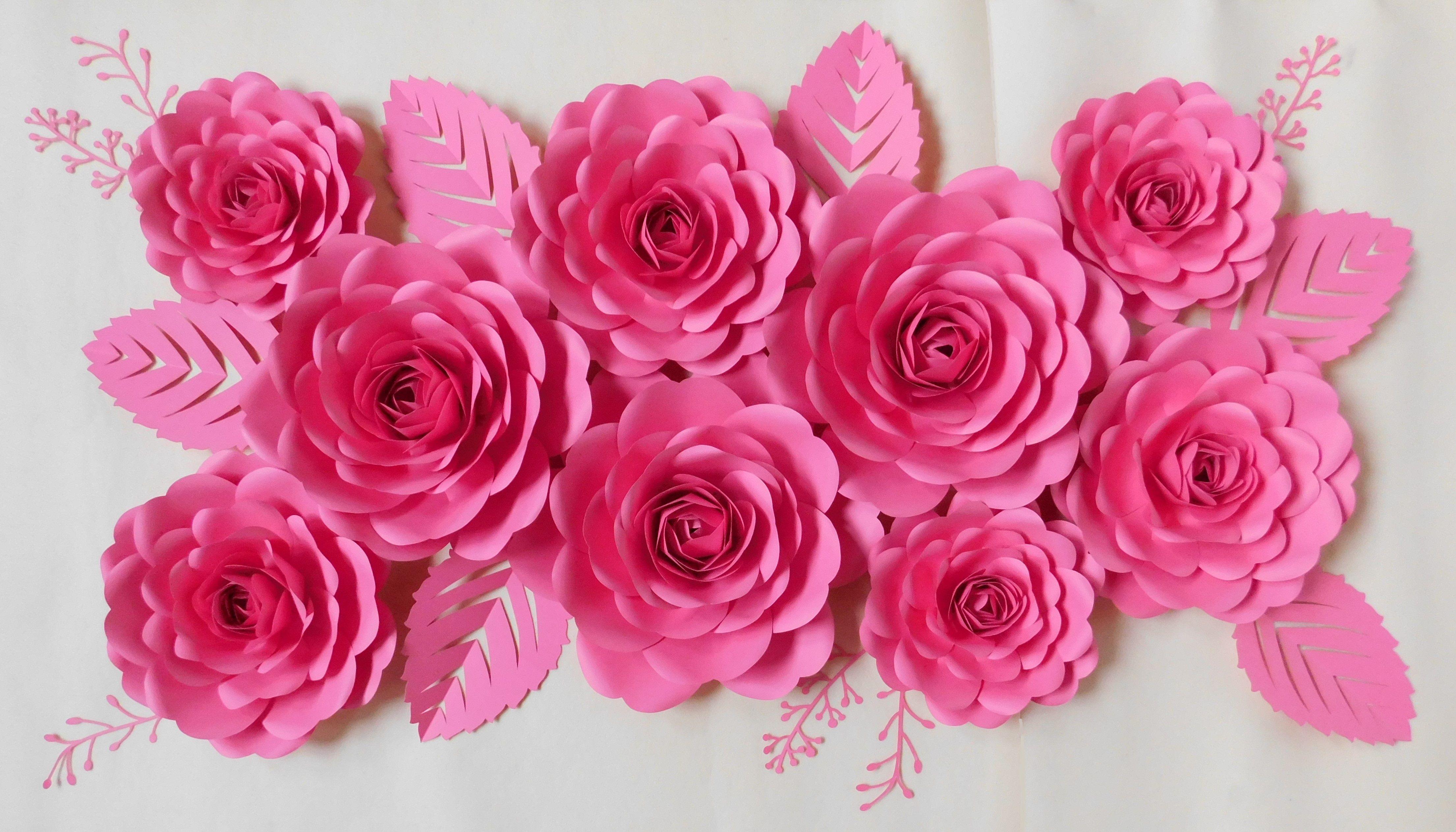 Kwiaty Z Papieru Kwiaty Papierowe Paper Flowers Pink Decorations Paper Flowers Flower Backdrop Paper Flower Wall