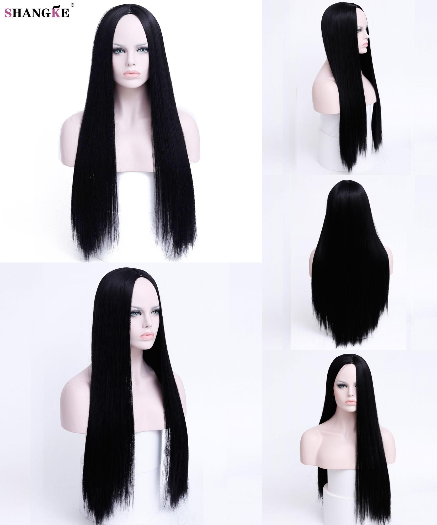 Synthetic Wigs Shangke Wigs For Women Long Straight Cosplay Wigs Synthetic Hair Heat Resistant Synthetic None-lacewigs
