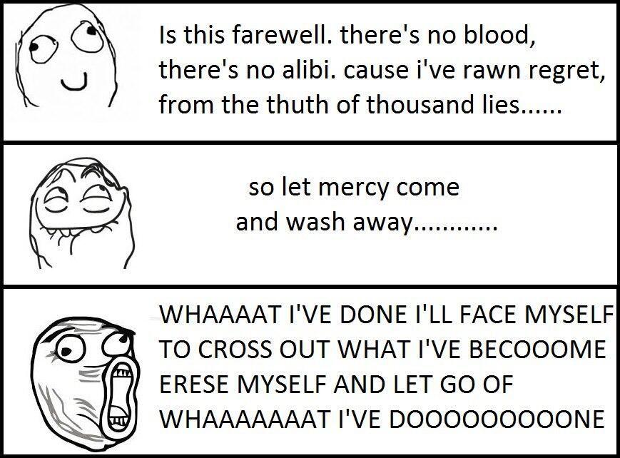 Lyric much more lyrics : LP lyrics what I've done - linkin park haha yeah pretty much ...