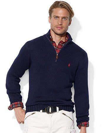 d995f3f638a9a5 Ralph Lauren quarter-zip sweater - Medium - Navy/Black-- so comfy for girls  too!