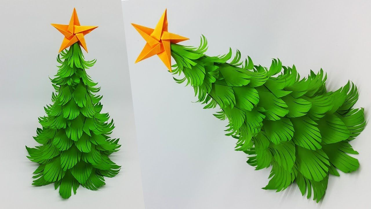 Diy Paper Christmas Tree How To Make A 3d Christmas Tree Crafts Tutorial Christm Christmas Tree Paper Craft Diy Paper Christmas Tree Christmas Tree Crafts