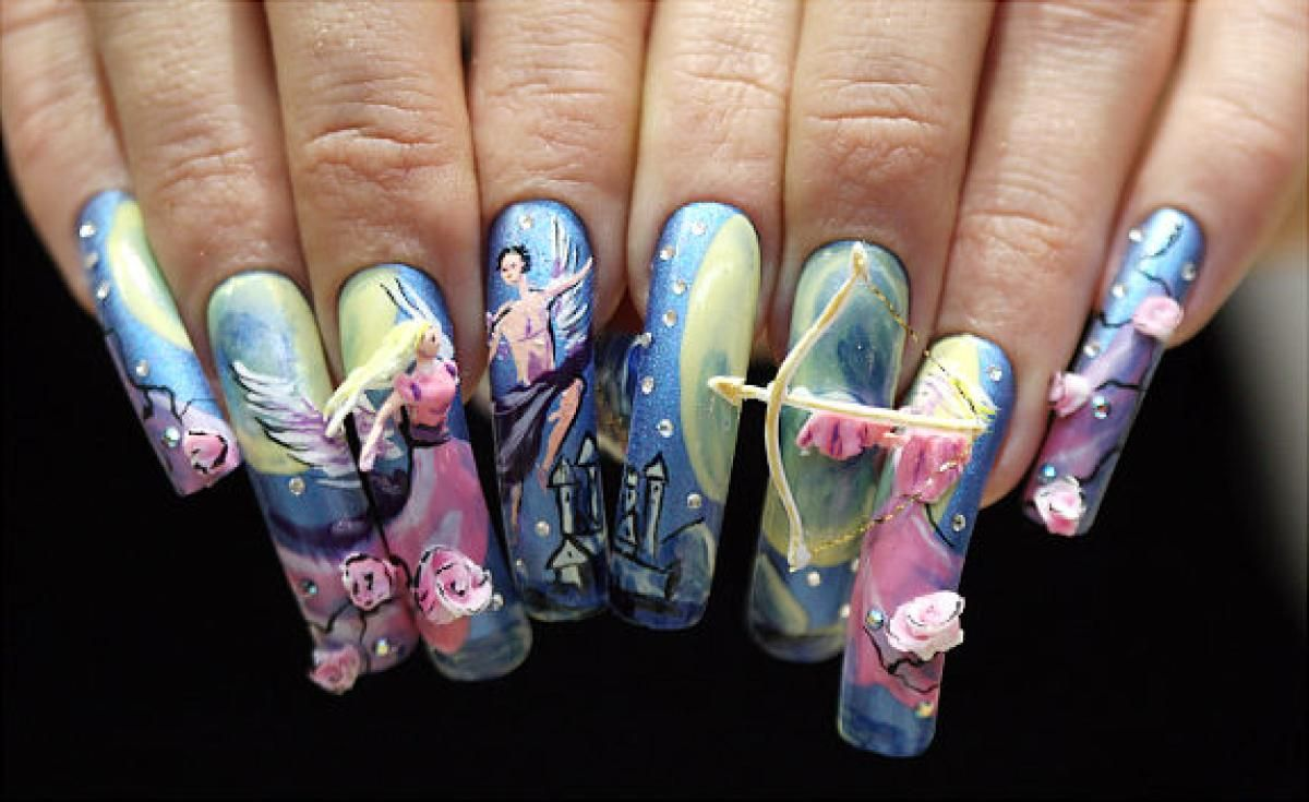 Crazy nail art! - slide 1 | Crazy nail art, Crazy nails and Japanese ...