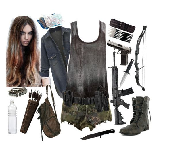 """TWD    oc"" by xkitten-pokerx ❤ liked on Polyvore featuring H&M, Charlotte Russe and CO"