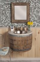 24 Inch Single Sink Bath Vanity in Natural Oak
