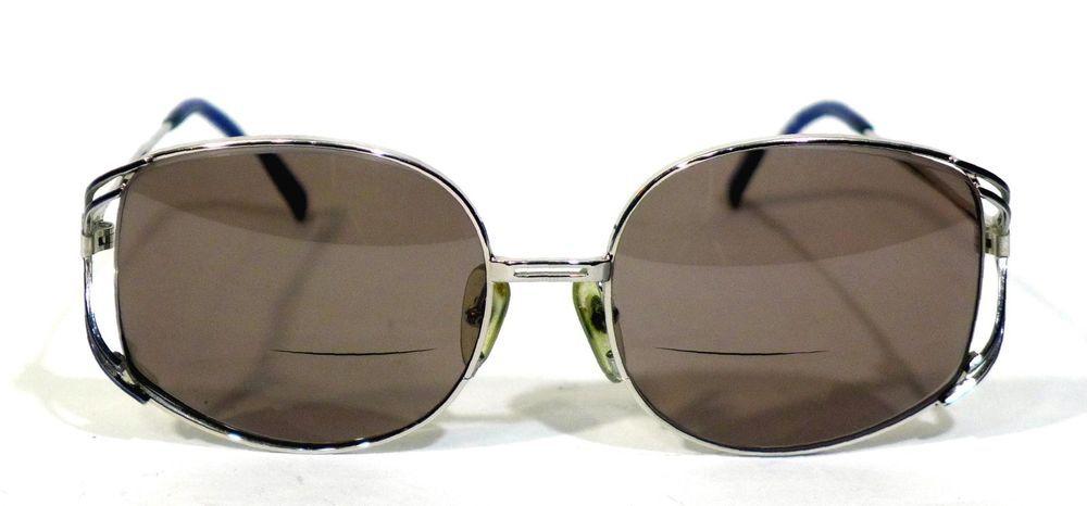 bc0bd4ff982 Vintage Christian Dior 2590 Rx Eyeglasses Frames 55-17-125 Silver Blue