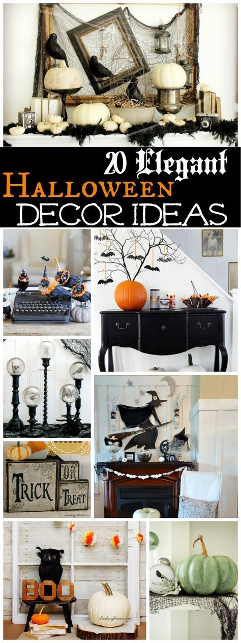 20 Spooktacularly Elegant DIY Halloween Decor Ideas DIY Halloween - cheap easy diy halloween decorations