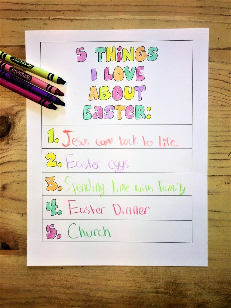 things i love about easter coloring page childrenus pastor only