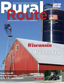 Wisconsin Farm Bureau Federation's Rural Route is our official publication that focuses on news and information specific to Farm Bureau and Wisconsin's agricultural industry. The newest issue is out! Read it here.