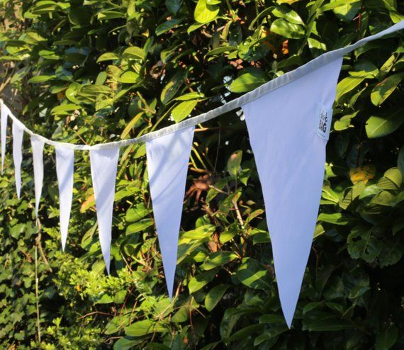 White Bunting Flags Outdoor