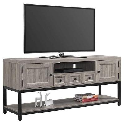Barrett Multipurpose TV Console - Sonoma Oak, Black - Ameriwood Home