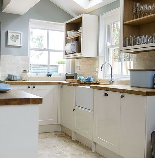 Kitchen Walls Reface Depot Cream Cabinets With Blue Interiors In 2019