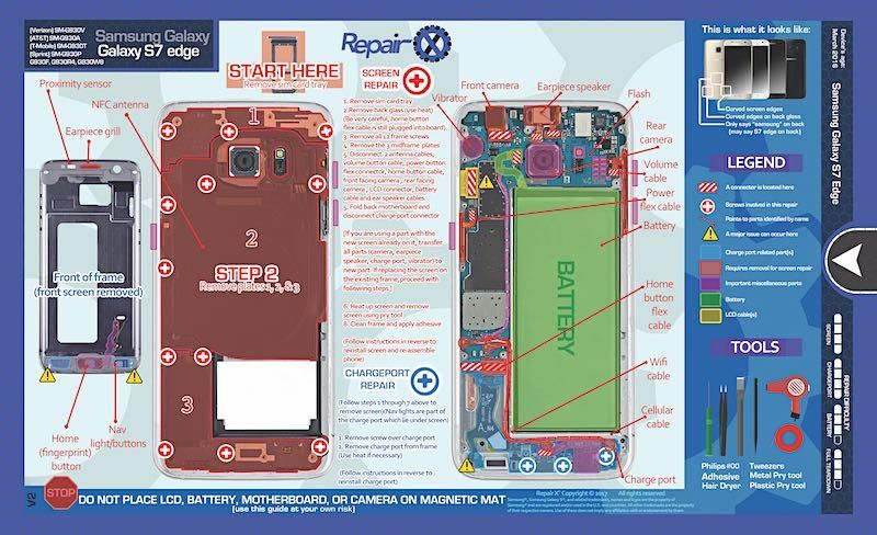 samsung galaxy s7 edge repair schematic
