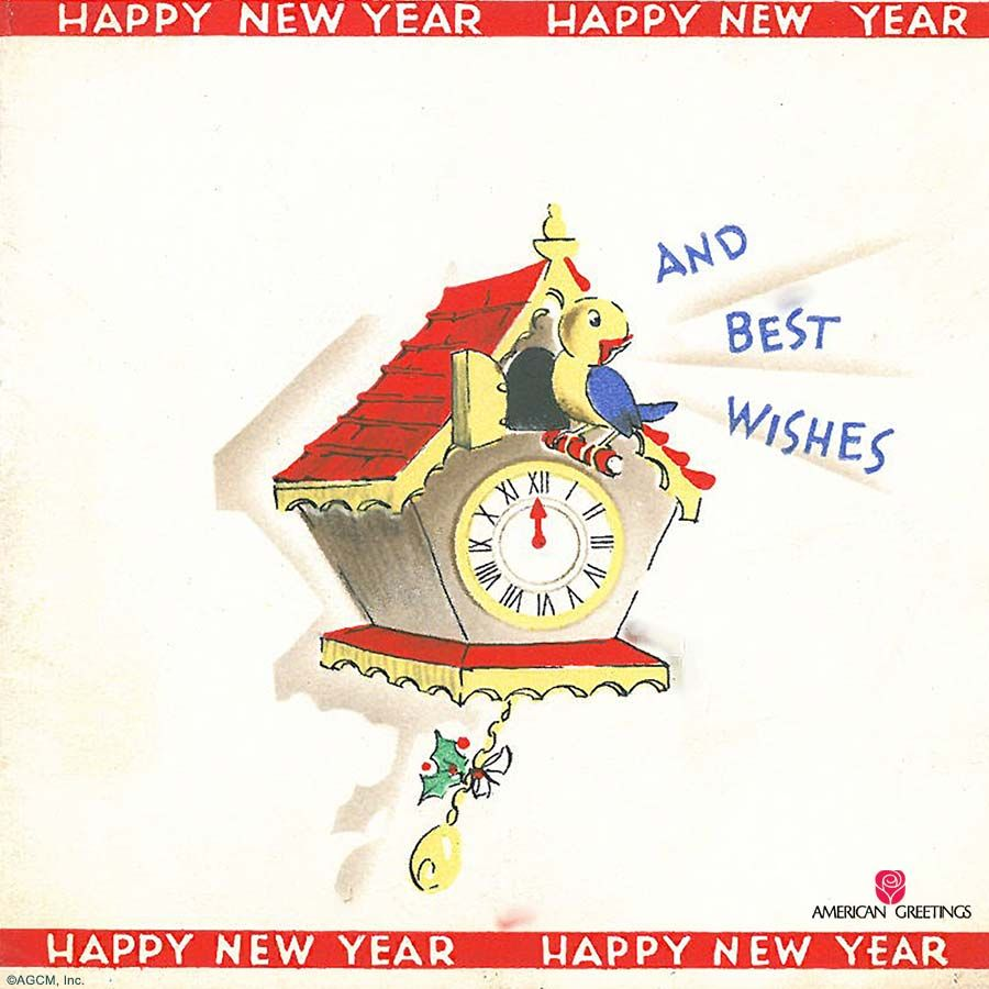 Vintage New Years Cards American Greetings Archives American