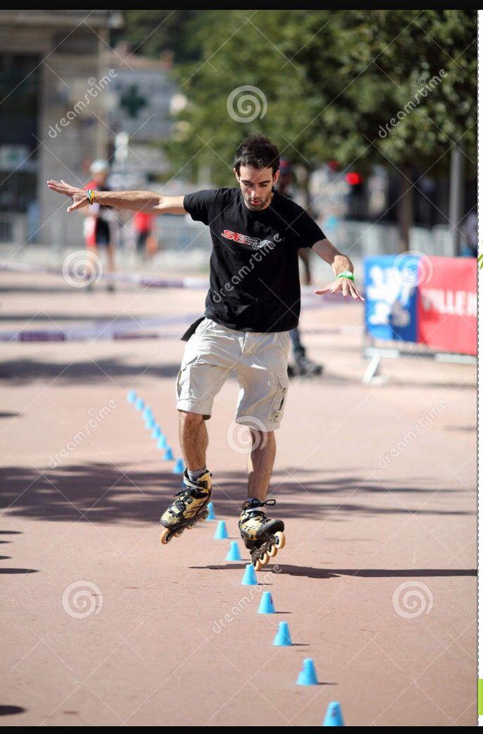 Slalom skating