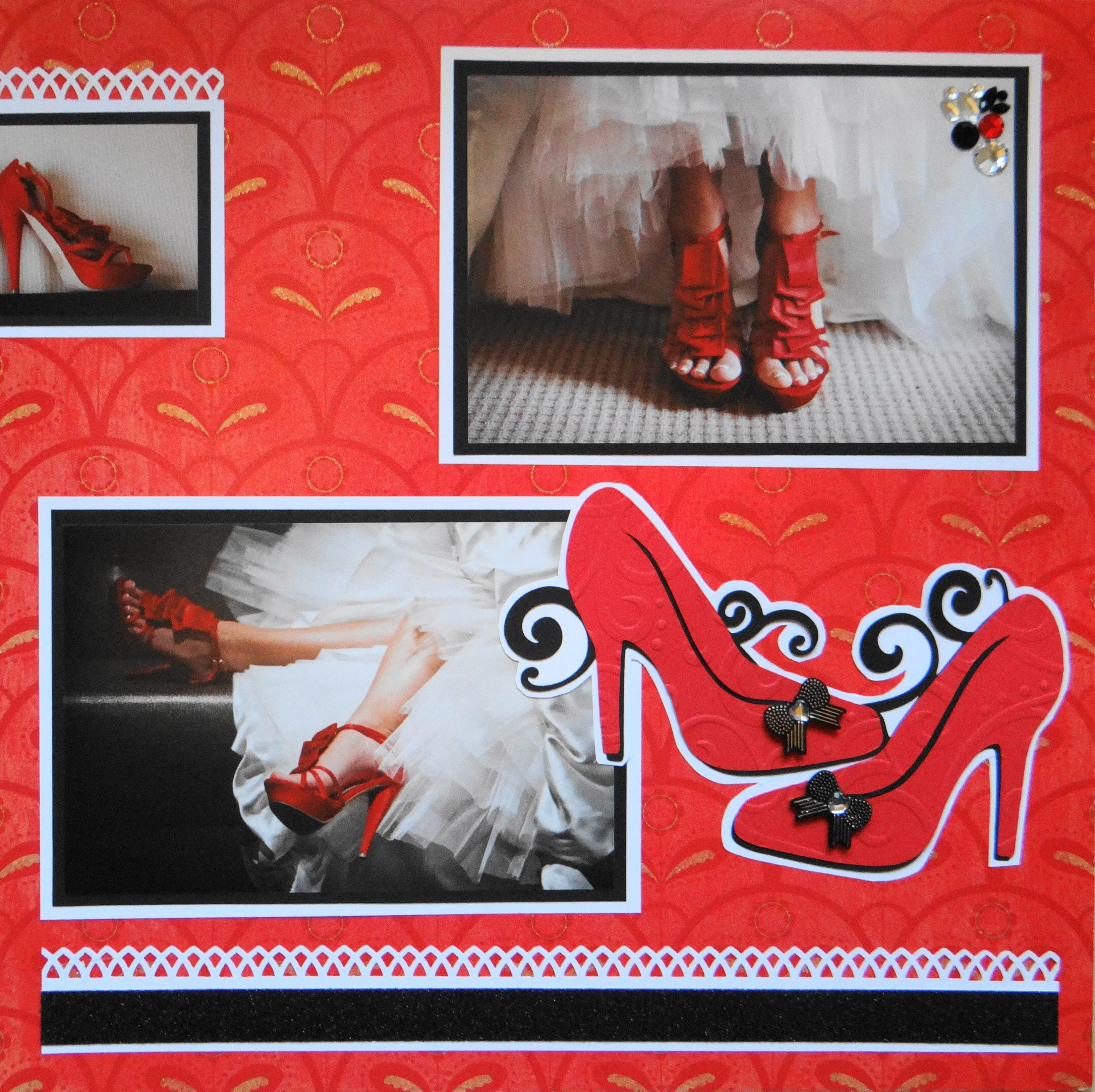 Scrapbook layout ideas using cricut