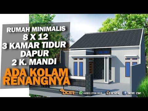desain rumah minimalis 8 x 12 ada kolam renang di dalam