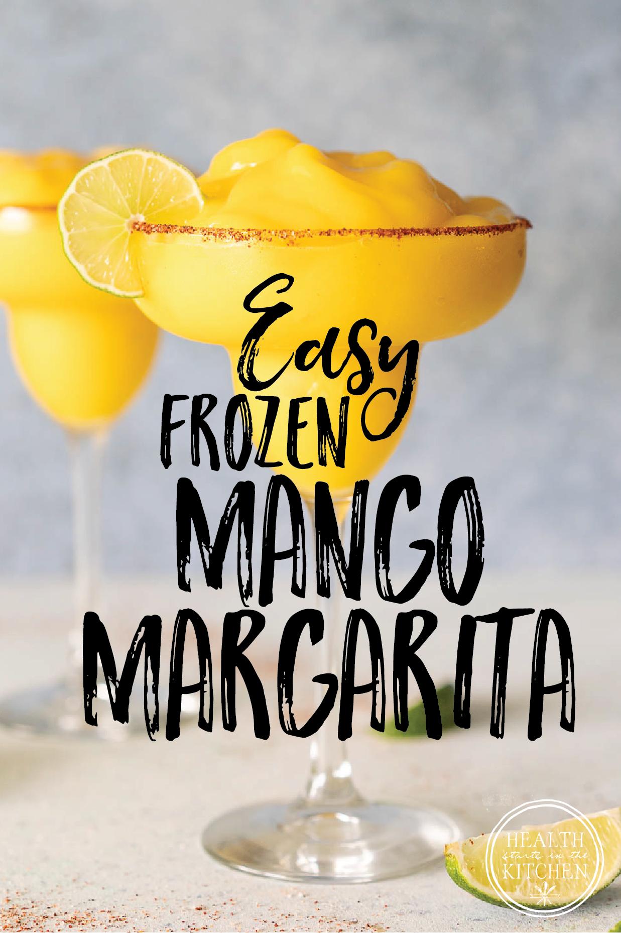 Easy Frozen Mango Margarita