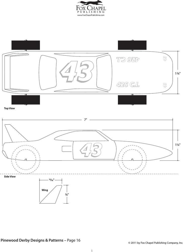 23 Cool Pinewood Derby Templates Free Download Cub Scouts
