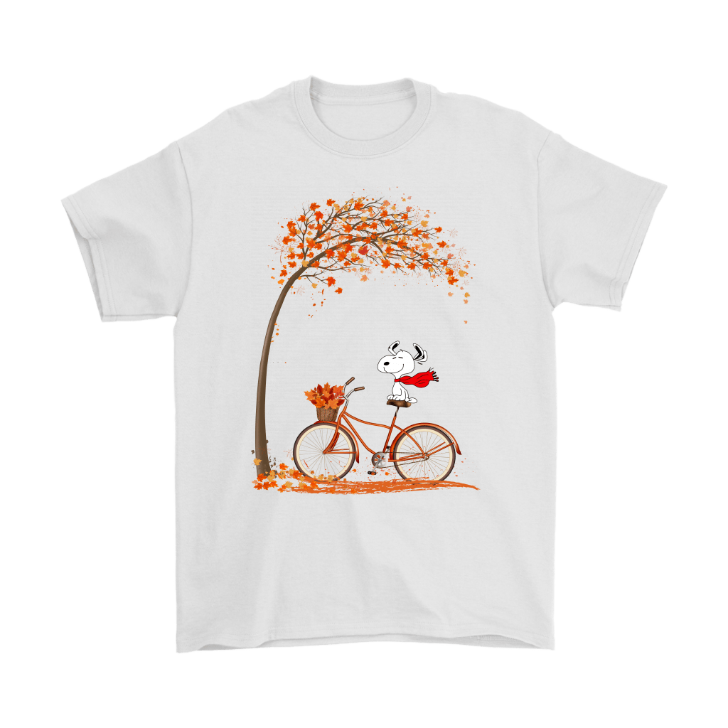 Snoopy Riding A Bicycle Hello Autumn Shirts – Snoopy Facts